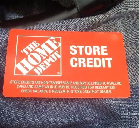 Home depot credit card is undoubtedly attractive to ongoing housing improvement projects. HOME DEPOT GIFT CARD / STORE CREDIT $54.00 #HomeDepot | Store credit cards, Store gift cards