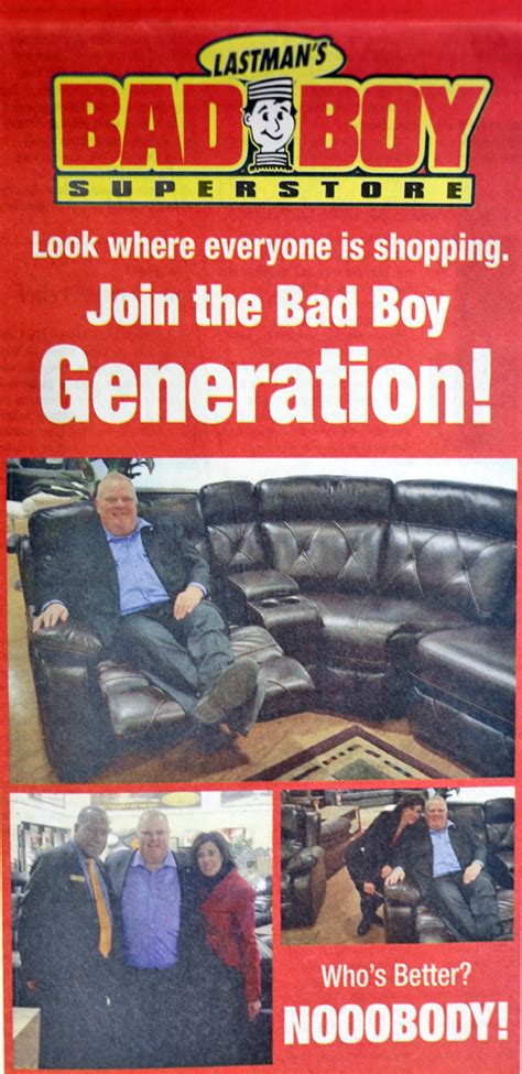 Rob Ford Stars In New Ad For Bad Boy Furniture