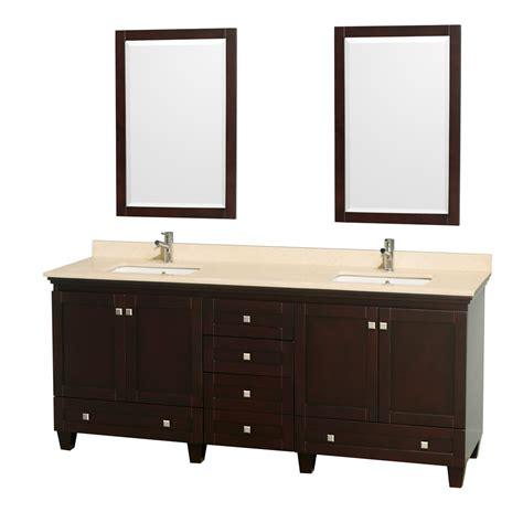 Wyndham Bathroom Vanity by Wyndham Collection Wcv800080desivunsm24 Acclaim 80 Inch