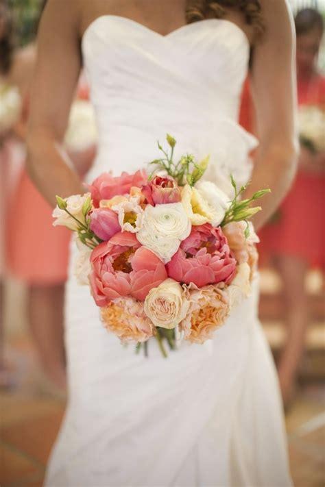 Coral Wedding Flower Bouquet Peonies Bouquet Pinterest