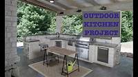 building outdoor kitchen Building An Outdoor Kitchen - YouTube
