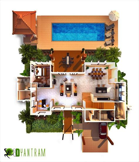 3d Floor Plan Design, Interactive 3d Floor Plan Yantram