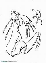 Squid Coloring Giant Colossal Pages Drawing Getdrawings Printable Getcolorings Growth sketch template