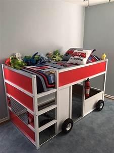 Ikea Bett Kinderzimmer : fdny fire truck bunk bed from ikea kura wohnen und garten kinderzimmer kura bett ideen und ~ Frokenaadalensverden.com Haus und Dekorationen