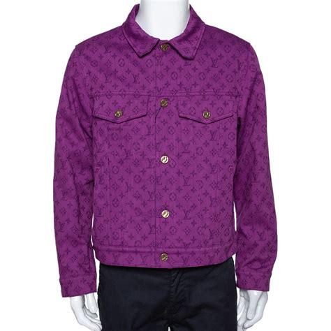 louis vuitton purple monogram denim jacket  louis vuitton tlc