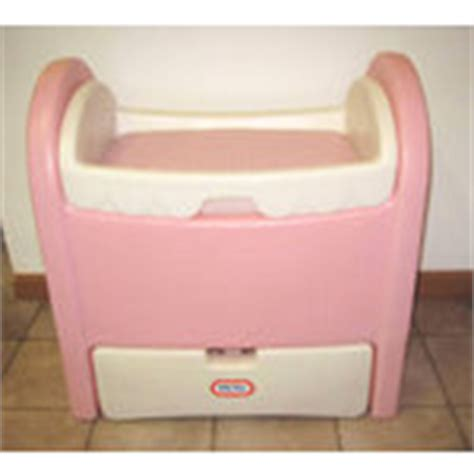 little tikes baby bed changing station doll cradle 08 17