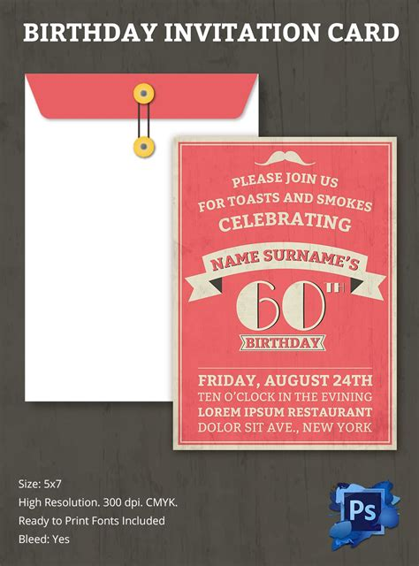 Birthday Invitation Template 32+ Free WordPSD AI