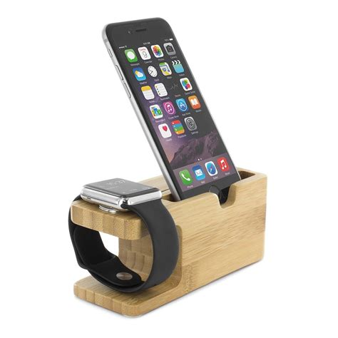 iphone stand apple and iphone charging stand bamboo proporta