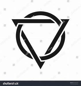 Triangle And Circle Logo Vector. - 344624207 : Shutterstock