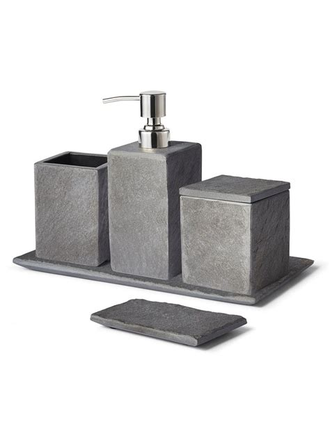 Modern Bath Accessories Collections by Slate Bath Accessory Collection In 2019 Bathroom Ideas