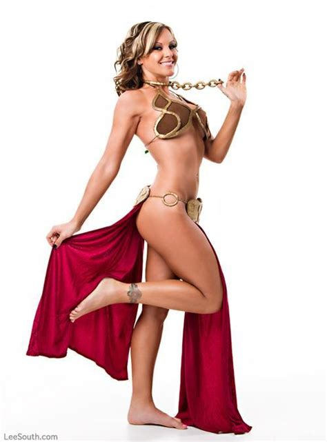 Sexy Princess Leia Slave Cosplay At