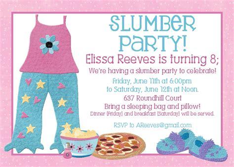 Free Printable Slumber Party Birthday Invitations DREVIO