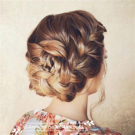 loose french braid updo wedding hair