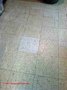 pin 12 asbestos floor tile on