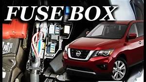 Fuse Box Location On A 2017 - 2019 Nissan Pathfinder