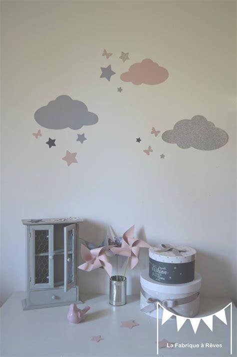 chambre bébé stickers chambre fille gris et parme