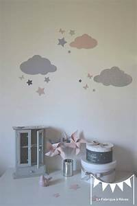 Stickers Dcoration Chambre Fille Bb Nuage Toiles