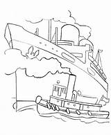 Ship Coloring Cruise Titanic Boats Boat Ocean Drawing Outline Ships Fishing Liner Tug Printable Dock Colouring Sheets Different Types Popular sketch template