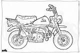 Honda Motorcycle Coloring Colouring Drawing Adult Minibike Pages Illustration Z50 Drawings Getdrawings Cool Birthday sketch template