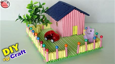 amazing mini craft house making house craft  kids