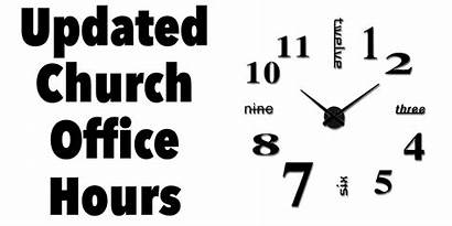 Hours Office Temporary March Updated Church Restricted