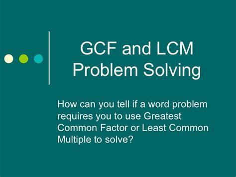 Gcf Lcm Problem Solving  Grade 6 Cc Maththe Number System  Pinterest  Problem Solving