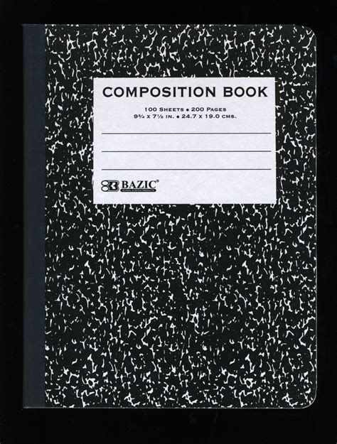 Compsotion Notebook Template by Mrs Rodriguez 5th Grade