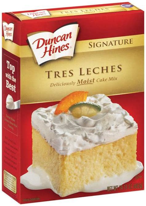 tres leches cake mix duncan hines signature tres leches cake mix hy vee