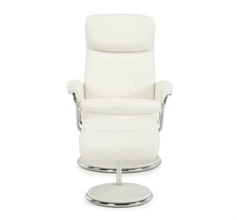 serene halden white faux leather recliner chair by serene