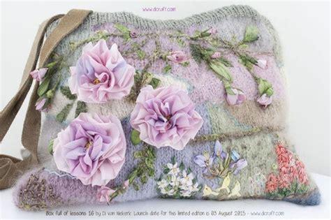 van niekerk silk ribbon embroidery bolso bordado bolsos