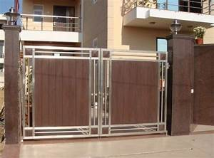 Steel Wooden Gate at Rs 1150 /square feet Steel Gates