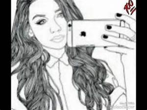 Fille Noir Et Blanc : dessin fille swag youtube ~ Melissatoandfro.com Idées de Décoration