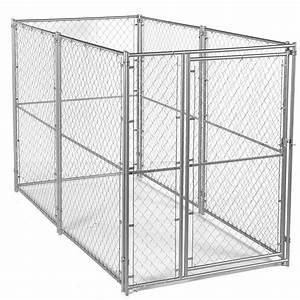 lucky dog 6 ft h x 10 ft w x 10 ft l modular kennel With dog house kits home depot