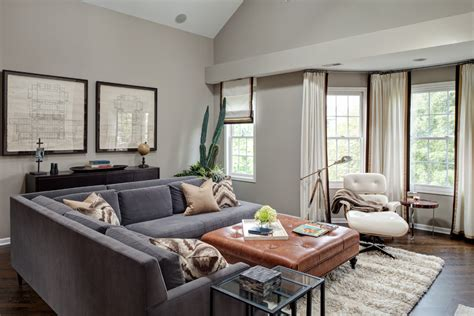 Grey Living Room Brown Sofa by Pretty Leather Sectional With Chaise In Family Room
