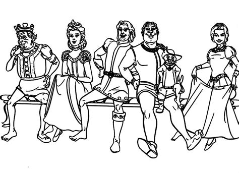 Prince Charming Shrek Coloring Coloring Pages