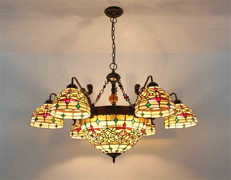 stained glass light fixture chandelier stained glass l ceiling pendant