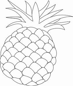 Pineapple Outline Clip Art at Clker.com - vector clip art ...