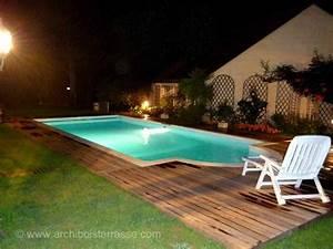 Eclairage Piscine Bois : terrasse bois et tour de piscines clairage led ~ Edinachiropracticcenter.com Idées de Décoration