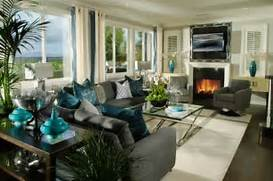 Modern Black House Bright Accents Decorating With Turquoise Colors Of Nature Aqua Exoticness