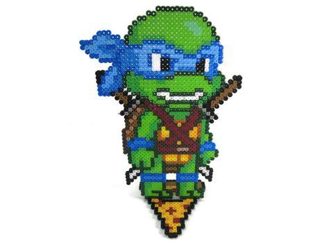teenage mutant ninja turtles perler bead sprite character