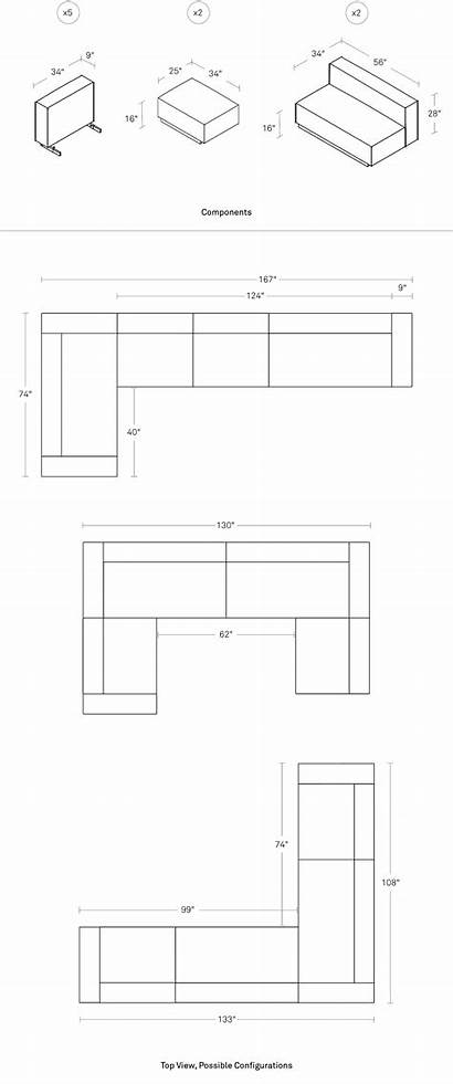 Sofa Sectional Dimensions Cleon Pdp
