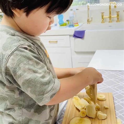 montessori toddler kitchen knife amazing kids wooden