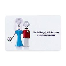 bridal gift registry couple gift card bed bath