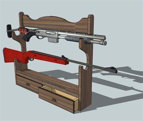 printable gun rack template plans to build gun rack pattern pdf plans