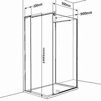 walk in shower dimensions 16 best 3 Sided Walk In Showers images on Pinterest ...