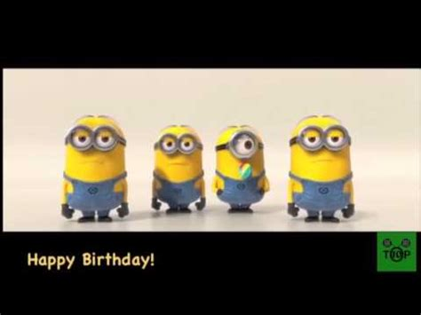 minion geburtstag song youtube