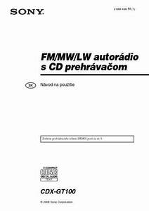 Sony Cdx Gt100 Car Radio Download Manual For Free Now
