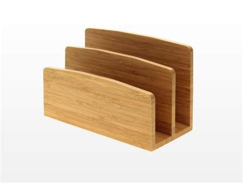 bamboo desk letter rack holder bills leaflet stand ebay