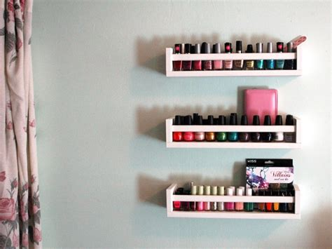 nail organizer rack 31 diy racks for nail display guide patterns