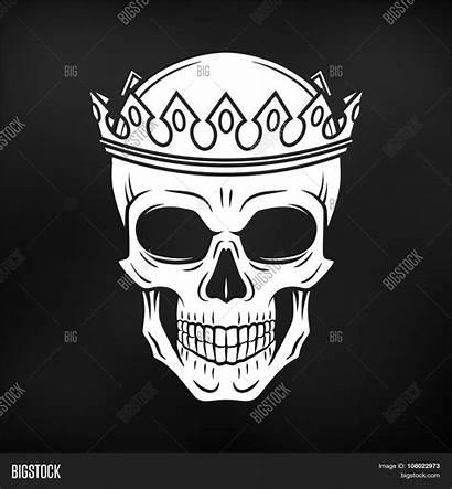 Skull King Crown Background Element